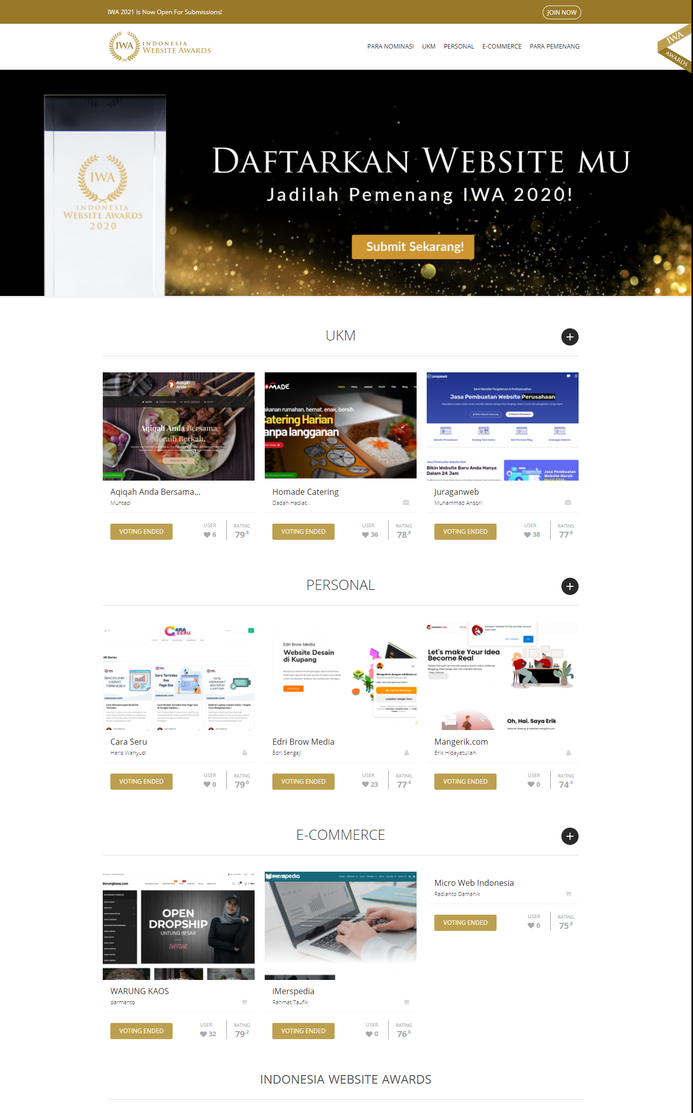 Home Indonesia Website Awards